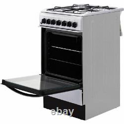 Indesit IS5G4PHX Free Standing A Dual Fuel Cooker with Gas Hob 50cm Silver New