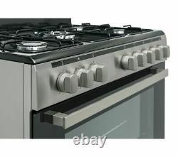 LOGIK LFTG90X18 90 cm Duel Fuel Range Cooker Stainless Steel Currys