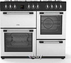 LOGIK LRC100S21 100 cm Dual Fuel Range Cooker Silver Currys