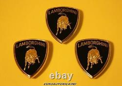 Lamborghini Diablo Gallardo Murcielago Front Emblem Badge Silver Trim Enamelled