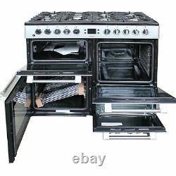 Leisure Cookmaster 100 cm Dual Fuel Range Cooker CK100F232S Silver 2 Ovens #2481