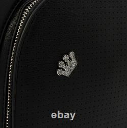 Loungefly Black Pin Trader Collector Mini Backpack & Enamel Crown Pin