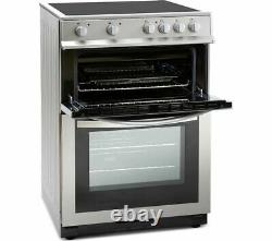 MONTPELLIER MDC600FS 60 cm Electric Ceramic Cooker Silver Currys