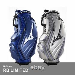 Mizuno 2019 RB LIMITED Mens Golf Club Bag 9.5 5Way 9lb PU/PVC Enamel EMS Silver