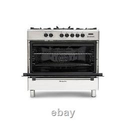 Montpellier 90cm Single Cavity Dual Fuel Range Cooker Stainless Steel