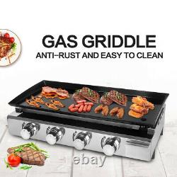 NEW Gas Plancha BBQ LPG 4 burner outdoor Grill Steel Enameled cast iron Plate CE