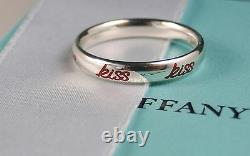 NEW Tiffany & Co. Picasso Graffiti KISS Band Ring Silver & Red Enamel Size 6.5