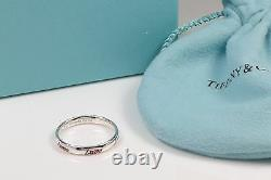 NEW Tiffany & Co. Picasso Graffiti Love Band Ring Silver & Red Enamel Size 6