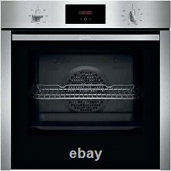 Neff B3CCC0AN0B N30 Slide & Hide 5 Function Electric Single Oven Stainless Ste