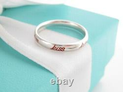 New Auth Tiffany & Co Silver Red Enamel Kiss Picasso Ring Band Size 7.5