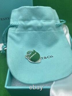 New Tiffany & Co Silver Return To Devil Blue Enamel Charm