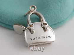 New Tiffany & Co Yellow Enamel Heart Handbag Purse Charm 4 Necklace Bracelet