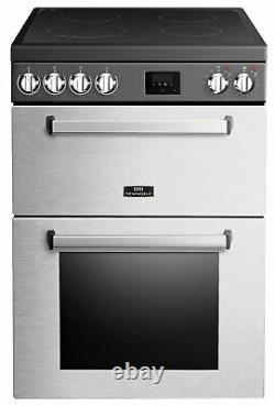 New World Nevis NWNV60CSS 60cm 4 Hob Double Electric Cooker S/Steel