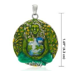 Oberon Zell Gaia Mother Earth. 925 Sterling Silver Pendant Peter Stone Jewelry