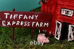 RARE Tiffany & Co. Sterling Silver Pink Enamel Farm Pig Charm Pendant BOXED