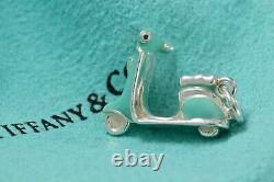Rare Tiffany & Co. Silver Blue Enamel Scooter Charm Pendant BOXED