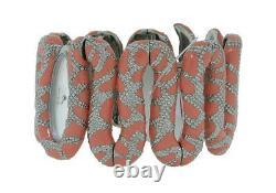 Roberto Cavalli R7253195525 Cleopatra Women's Coral Tone Snake Analog Watch