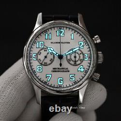 Seagull GLAMOR MASTER ST1901 Panda Enamel Chronograph Sapphire Display 1963 BNIB