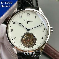 Seagull ST8230 Sugess Coaxial Tourbillon Enamel 41mm Sapphire DisplayBack 2Strap