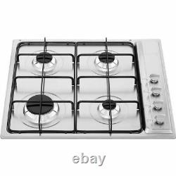 Smeg S64S Cucina Built In 58cm 4 Burners Gas Hob Stainless Steel