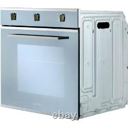 Smeg SF64M3TVS Cucina Built In 60cm A Electric Single Oven Silver Glass New