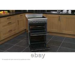 Smeg SUK62CMX8 Concert Free Standing A/A Electric Cooker with Ceramic Hob 60cm