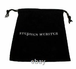 Stephen Webster Forget Me Knot black silver, Black sapphire enamel Bow ring size