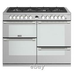 Stoves Sterling Deluxe S1100DF 110cm Dual Fuel Range Cooker in Stainless Steel G