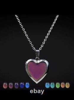 Stylish Emotion Linked Colour Changing Mood Tracker Heart Locket & Necklace