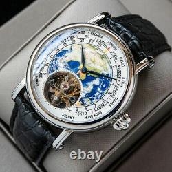 Sugess Watch Earth Art Enamel Dial Seagull ST8000 Movement Genuine Tourbillon UK