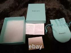 TIFFANY & Co. Love Heart Stud Earrings Blue Enamel 925 Silver withBOX