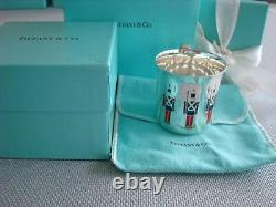 TIFFANY sterling silver enamel BABY CHILD CUP'TOY SOLDIERS' RARE&FABULOUS