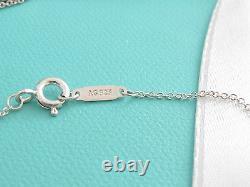 Tiffany & Co Brand New Silver Daisy Blue Enamel Necklace Box