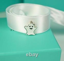 Tiffany & Co. Ghost Charm -NEW White Enamel & Silver with Box