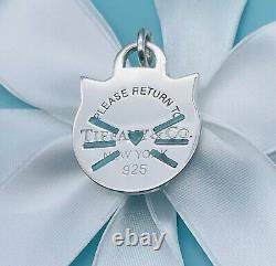 Tiffany & Co. Return To Tiffany Sterling Silver LARGE Blue Enamel Cat Charm New