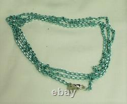 Tiffany & Co S/Silver + Blue Coated 2.5mm Pendant Chain 30 Long