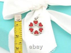 Tiffany & Co Silver Red Enamel Crown Of Hearts Heart Picasso Charm Pendant