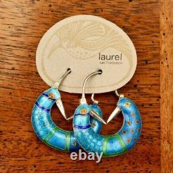 Vintage Laurel Burch Stylized Bird Silver Earrings Museum of Jewelry